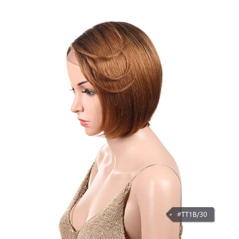 Sleek Синтетические волосы на кружеве человеческих волос парики для черный Для женщин Цветной Ombre блондинка красные, синие бразильский прямые...