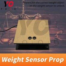 Czujnik masy Prop Escape Room Puzzle umieść obiekt z prawidłową wagą na czujniku, aby otworzyć sekretną komorę pokoju YOPOOD