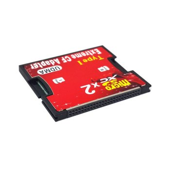 10pcs/lot  CY Dual Slot TF or Micro SD Micro SD to Type I Compact Flash Card CF Reader Adapter for Nikon Cannon Carema
