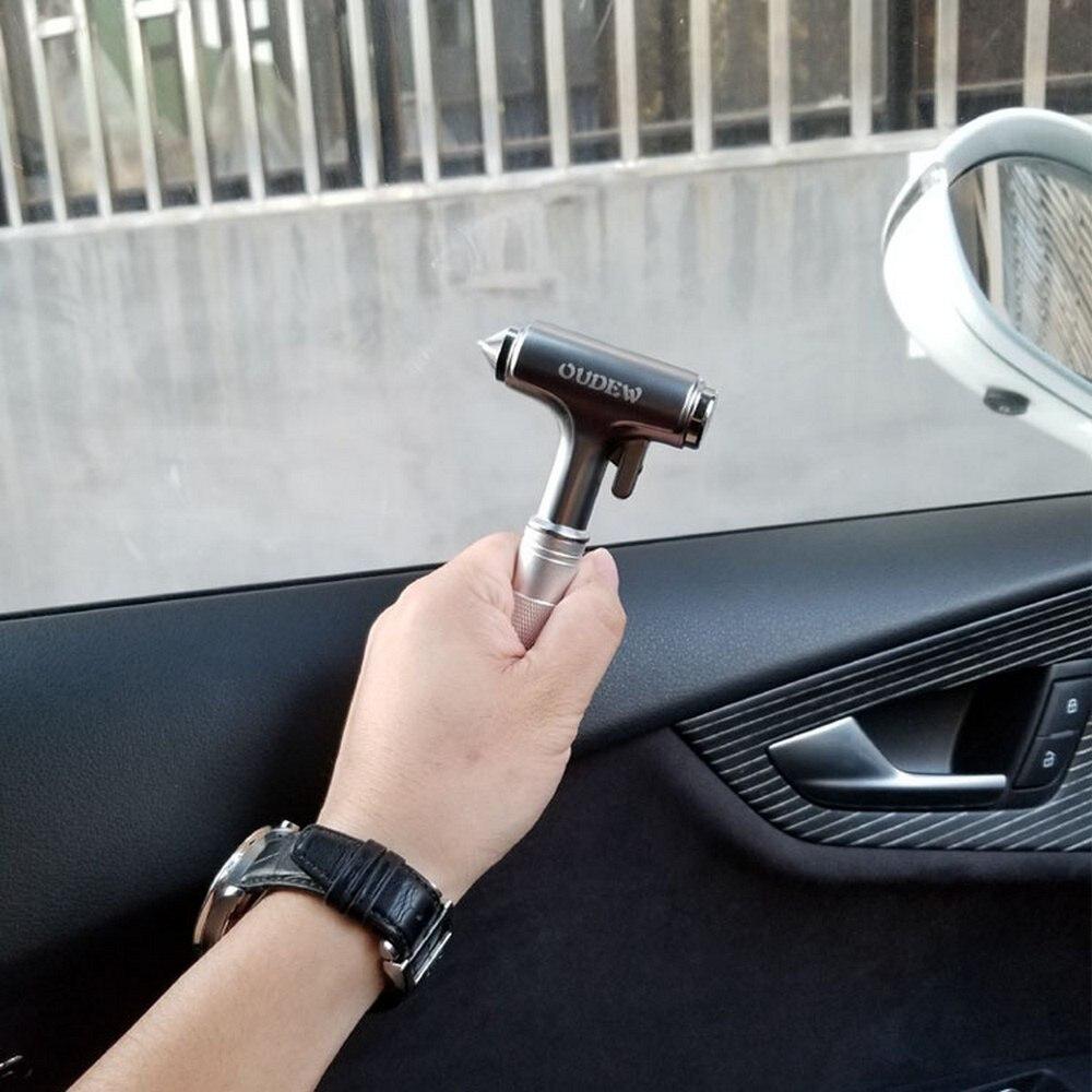 Car Aluminum Alloy Safety Hammer Seat Belt Cutter Window Broke   Life-saving Hammer Tungsten Steel Hammer Tip Car Accessories