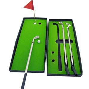 Image 2 - Golf Club miotacz długopis golfistów zestaw podarunkowy dekoracja na biurko do przyborów szkolnych akcesoria do golfa darmowa wysyłka