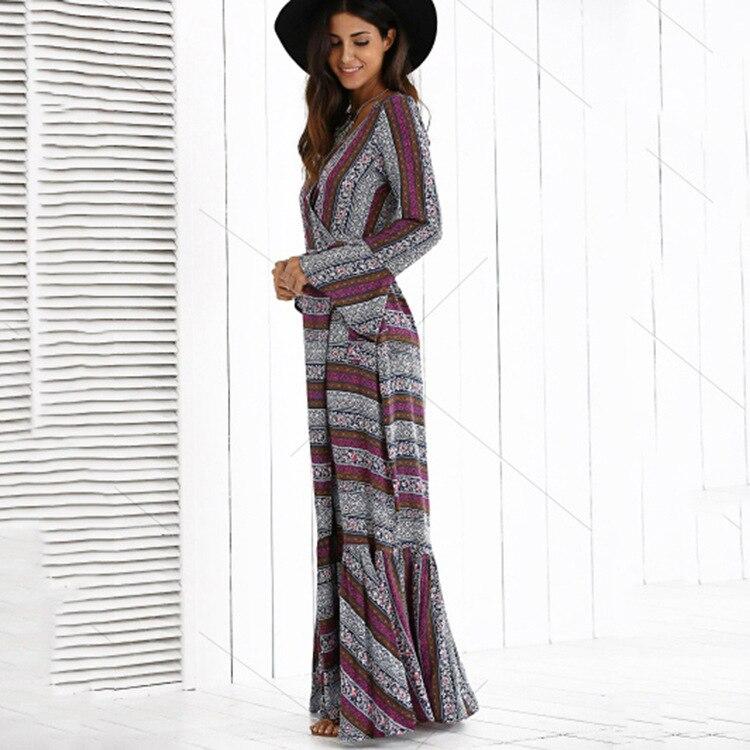 lange bohemian jurk