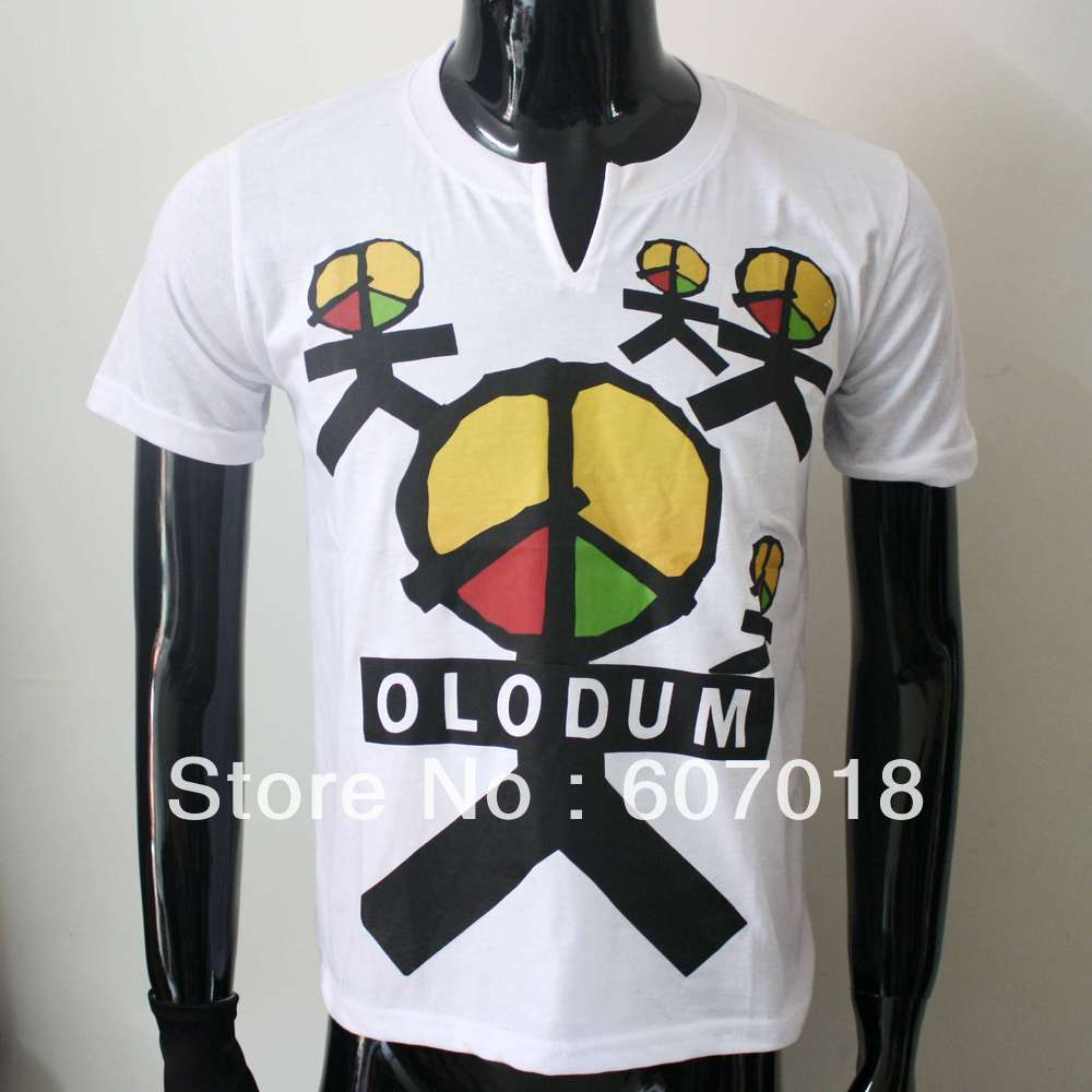 Rare MJ Fashion Brazil Retro Antiwar Michael Jackson OLODUM Cotton 100% Tee T-shirt - They Don't Care About Us' for MJ fans