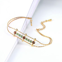 Top Quality Simple Crystal Rose Gold Color Bracelet Jewelry Made with Genuine ELEMENTS Austrian Crystal ZYH213 ZYH214(China)