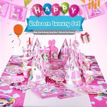 Luxury Horse Theme Birthday Party Tableware Set Baby Shower Parties Decoration Plate Banner Cups Dishes Candy Box Supplies Hot(China)
