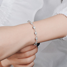 Everoyal Trendy Silver 925 Girls Bracelets Jewelry Exquisite Rose Bracelets For Women Birthday Party Gift Female Accessories Hot цена и фото