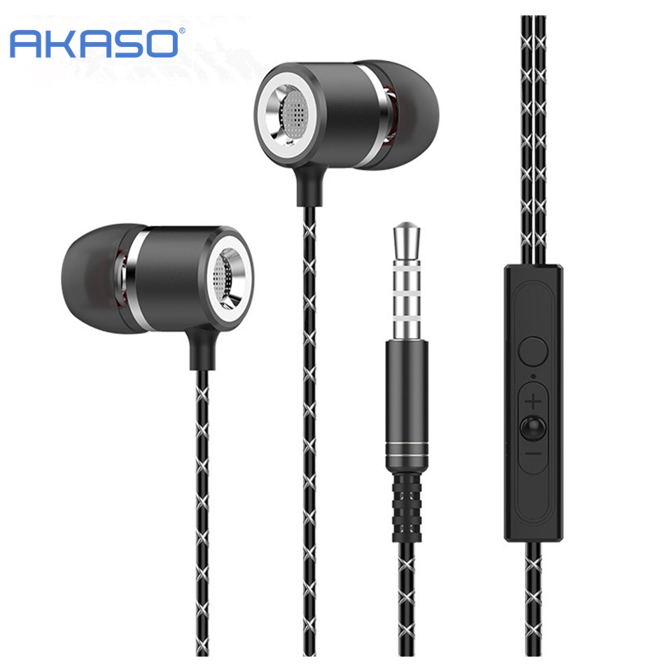 AKASO Ear Phones In-Ear Ear Phones Earbuds Casque Sport Earphone Headset Earphones For iPhone Samsung S8 Plus Casque Audio
