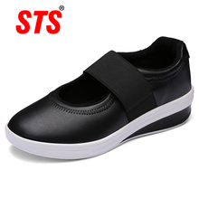 STS BRAND 2019 New Women Shoes Casual Sport Flats Fashion Walking Sneaker Spring Loafers Breathable Warm Mother Footwear