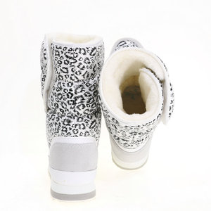 Image 2 - White leopard female boots winter snowboot nice looking plus big size plush warm fur Rubber with EVA outsole high quality women