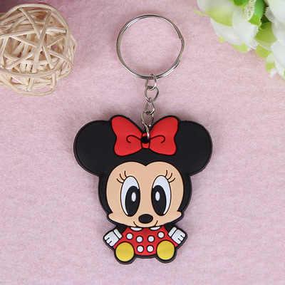 1 PCS Animal Bonito Dos Desenhos Animados Mickey Minnie Spiderman Silicone Acessórios Chave cadeias anel Chave Chaveiro Mochila Presente Do Miúdo