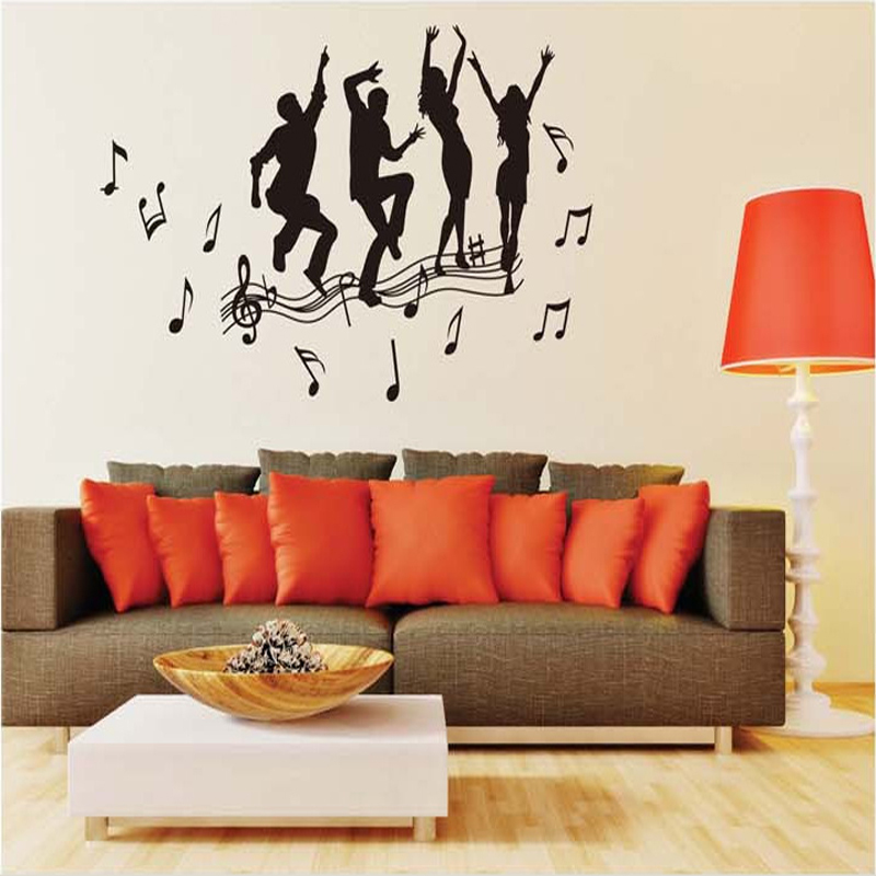 Aliexpress com   Buy Music note Dance Wall Paper Dancing Pose Removable  Black Wall Sticker Art Bedroom Vinyl Wall Decal Home Decor Free Shipping  from. Aliexpress com   Buy Music note Dance Wall Paper Dancing Pose