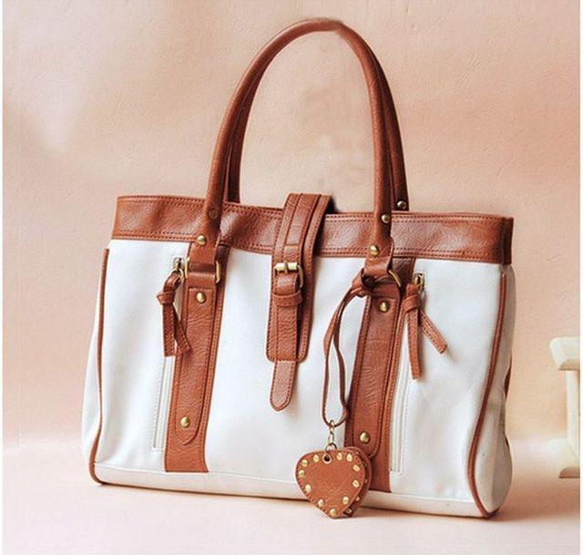 La nave libre Nuevas mujeres bolsa de mensajero bolsa de diseñador de la marca de LA PU de cuero patchwork bolso borla de la manera de las mujeres debe empaquetar bolsa de la compra