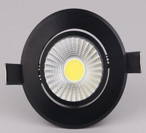 Бесплатная доставка черный корпус 12 Вт Теплые холодный белый натуральный белый Встраиваемые dimmable Подпушка лампа AC85-265V/ac110v/ AC220V
