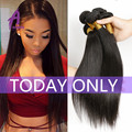 Alimice Hair Real Indian Straight Virgin Hair 3Pcs 8A Unprocessed Human Hair Weave Bundles Straight Raw Indian Virgin Hair