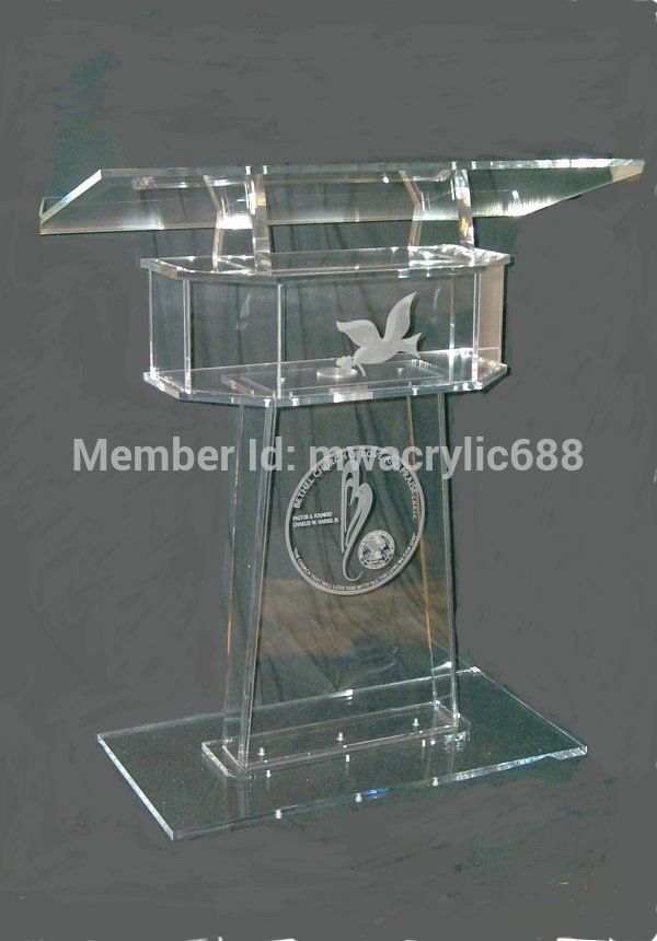 Pulpit Furniture  High Soundness Modern Design Cheap Clear Acrylic Lectern Acrylic Pulpit