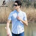 Pioneer campamento 100% algodón Oxford camisa hombres camisa delgada del ajuste fácil coincidentes marca ropa suave Masculina Camisas para Big & Tall 666214