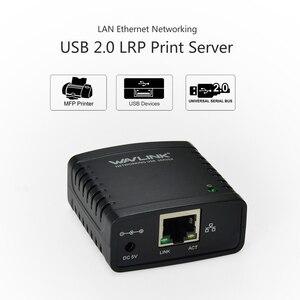 Image 5 - Wavlink USB 2.0 Netzwerk LRP USB Hub 100Mbps Teilen eine LAN Vernetzung Drucker Power Adapter für Windows EU /US/UK stecker