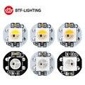 10 ~ 1000 piezas WS2812B LED Chip con disipador de calor Junta negro/blanca PCB (10mm * 3mm) DC5V WS2811 IC incorporada de SMD 5050 RGB LED RGBW RGBWW