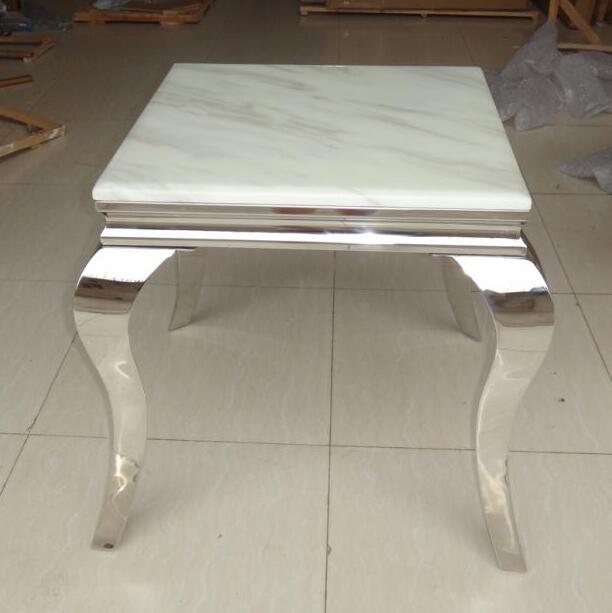 Мода из нержавеющей стали столик небольшой журнальный столик мрамор стекло сторона несколько диван сторона несколько углу несколько мобил...