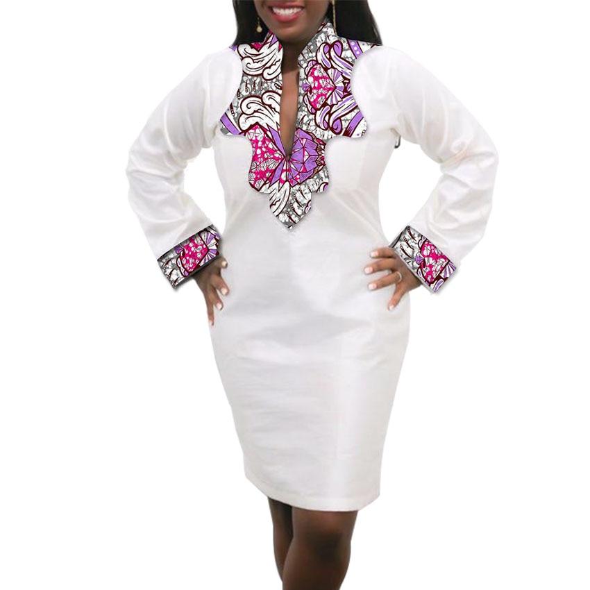 Femmes Robe Africaine Custom Made Dashiki Imprimer Vêtements Cire Et - Vêtements nationaux - Photo 2