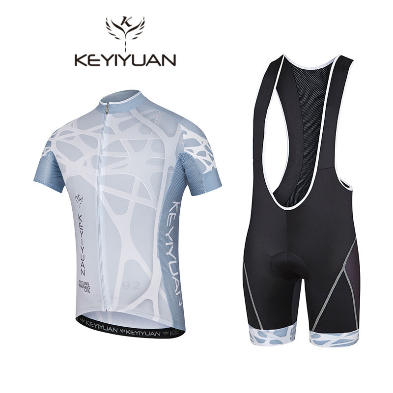 2018 keyiyuan Pro Team Summer Short Sleeve Cycling Jerseys Breathable Quick Dry Riding Wear Ropa Ciclismo Gel Pad Clothing