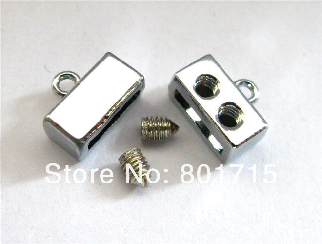 wholesale 50pcs zinc alloy Smooh Head Clasp Internal Dia.:8mm(Fit 8mm band)DIY Charms Fittings Accessory as gift