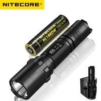 Nitecore R25 светодио дный фонарик CREE XP L Здравствуйте V3 W Здравствуйте te свет стробоскоп готов 800 люмен фонарик с Nitecore NL188 батареи