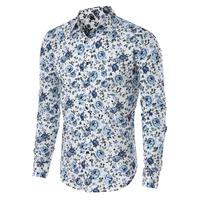 Mens   Shirts   Hot 2018 Fashion Long Sleeve Print Floral   Shirt   Men Slim Fit   Shirts   Men's Casual Hawaiian New   Shirt   Chemise Homme