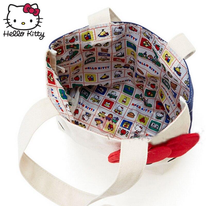 2019 Hello Kitty Bag Hand Bags Hellokitty Bag Handmade Cartoon Lovely Girls Shopping Nylon Portable Plush Backpack School Travel in Plush Backpacks from Toys Hobbies