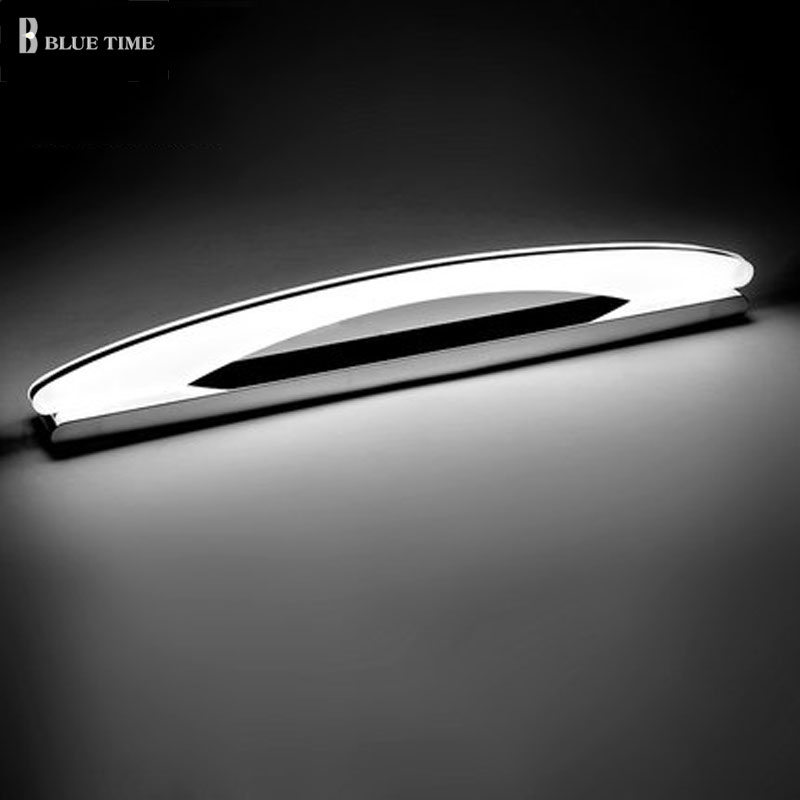 Acrylic <font><b>LED</b></font> Wall Light Bathroom Mirror Front Light Stainless Steel Lustres Modern Sconce Wall Lamp Bathroom Lamp 100CM <font><b>80CM</b></font> 60CM image