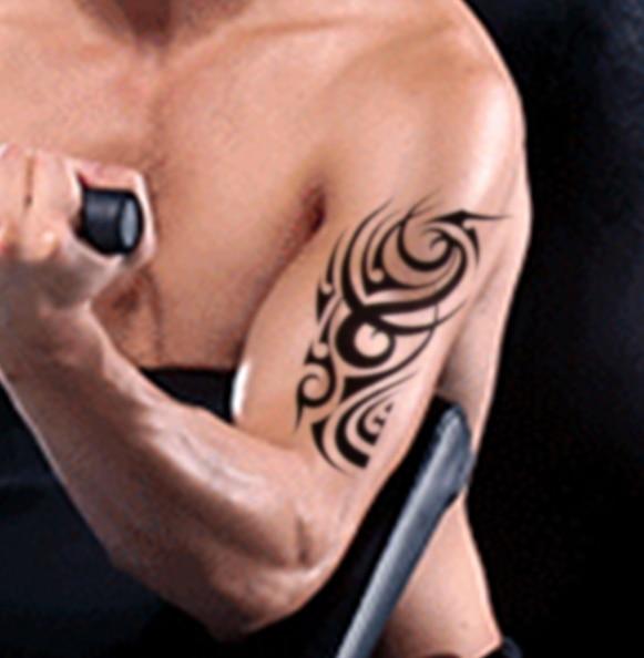 ᗕimpermeable Etiqueta Engomada Del Tatuaje Temporal De Gran