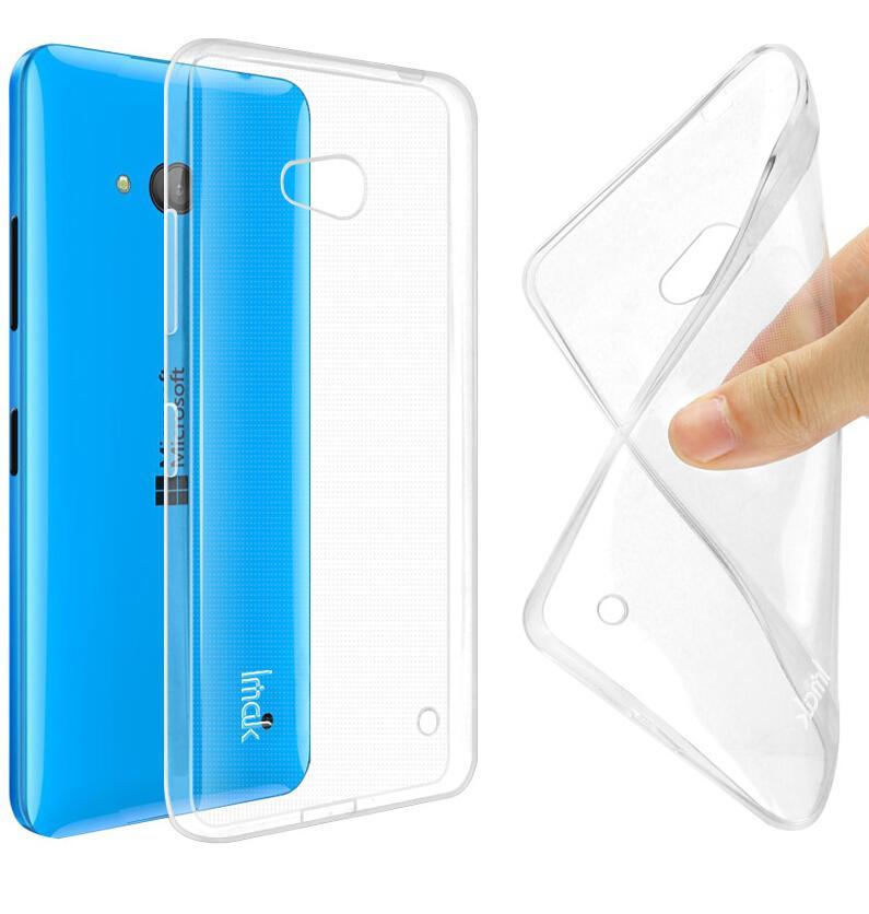 Dla microsoft lumia 535 532 435 640 640xl case cover, 0.6mm tpu case super slim miękkie back case etui na telefony 7
