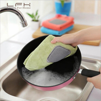 LFH 10pcs Microfiber Hanging Hand Towel Dish Wipes Rags Kitchen Bathroom Super Absorbent Drying Dishtowel Dishcloth