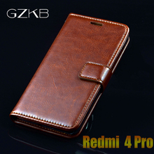 For Xiaomi Redmi 4 Pro Case GZKB Wallet Leather Flip Cover For Xiaomi Redmi 4 Pro Prime Cases Luxury Stand Card Holders Case