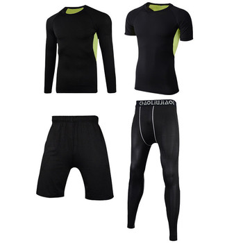 Men Sportswear Compression Sport Suits Quick Dry Running Sets Clothes Sports Joggers Training Gym Fitness Tracksuits Running Set 14