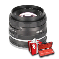 Meike 35mm f1.4 Manual Focus lens for Sony E mount A7II A6300 A7 /Fuji x mount /Canon EOS M M6 M50/ M4/3 Mirrorless Camera+APS C