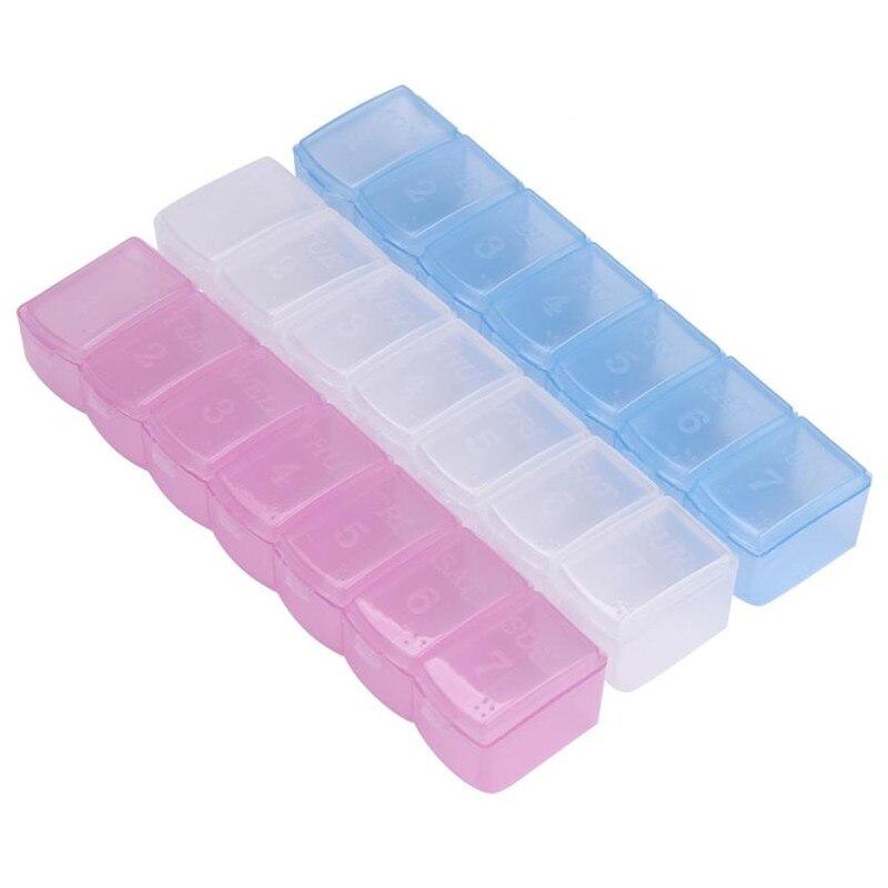 7 день мини-Еженедельный Медицина Box держатель Контейнер Организатор Pill случаях новый x30410