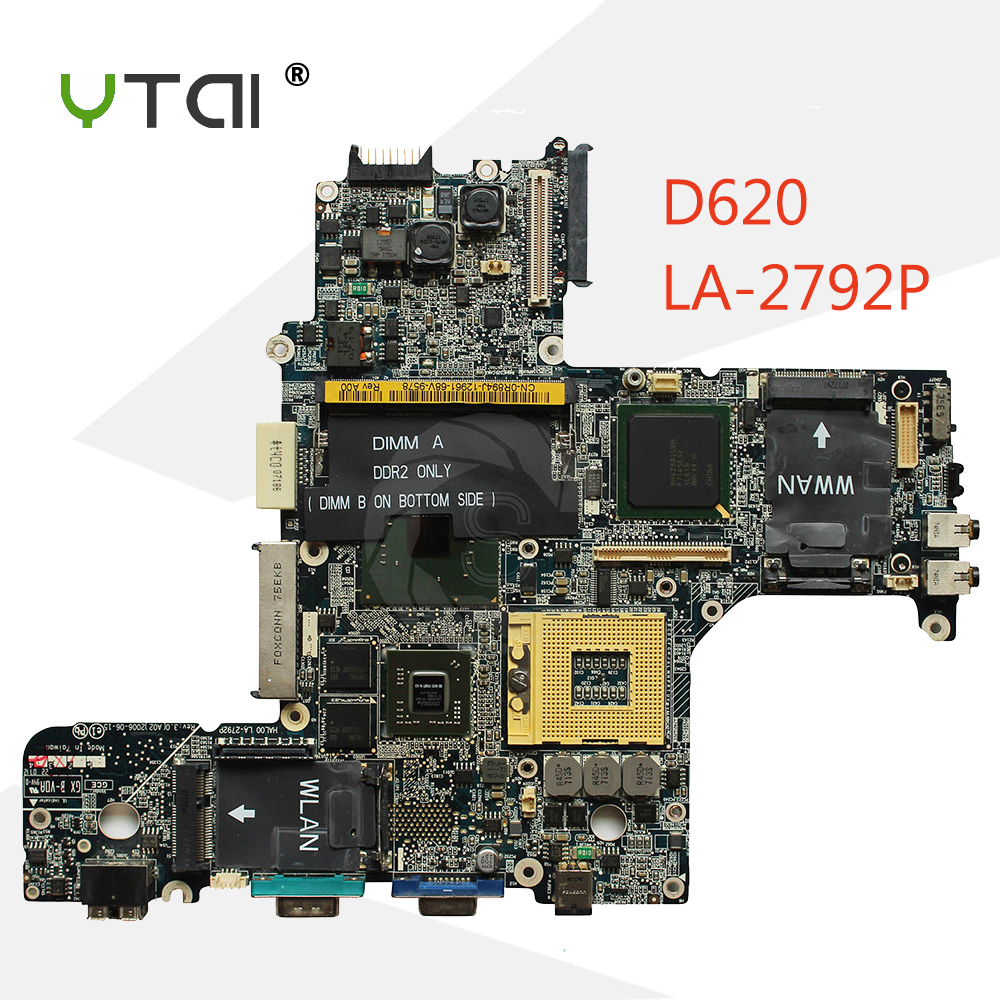 YTAI D620 laptop Motherboard HAL00 LA-2792P Motherboard For Dell Latitude D620 laptop Motherboard HAL00 LA-2792P VGA mainboard