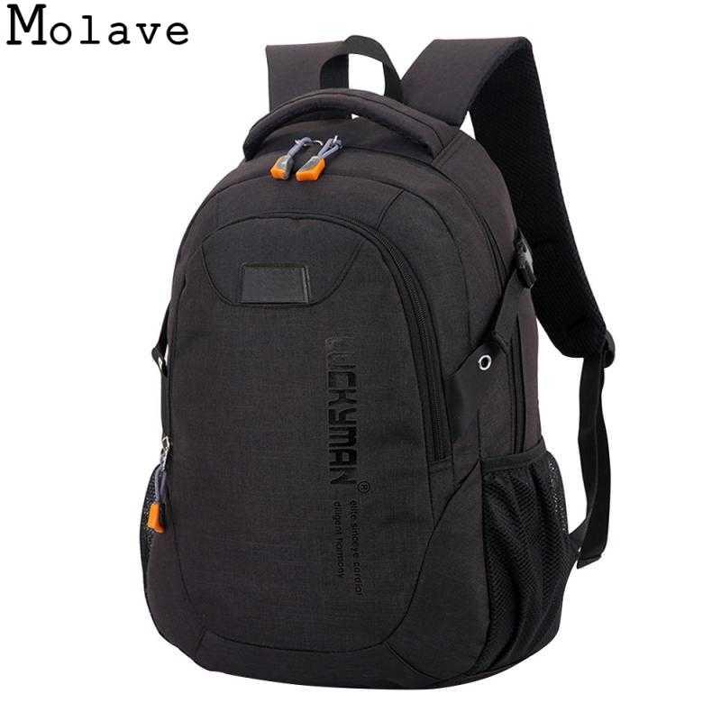 bc9671e1a584 MOLAVE Backpack canvas Travel bag Backpacks fashion men and women Designer  student bag laptop bags High capacity backpack DEC21