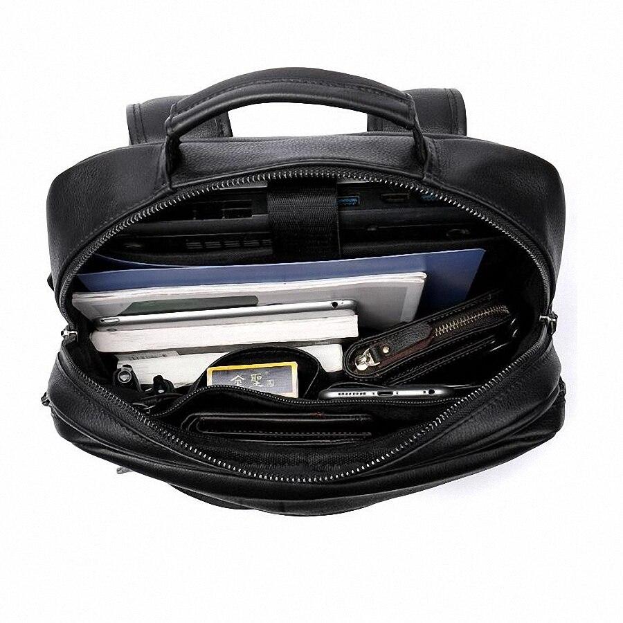 Sac à dos en cuir véritable pour hommes sac à dos pour ordinateur portable de haute qualité USB charge hommes sacs à dos pour hommes corée sac de voyage décontracté LI-2361 - 6