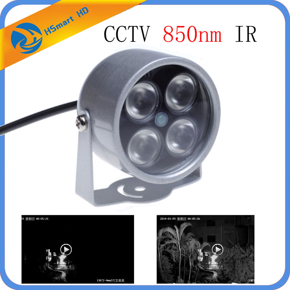 Hot New 4pcs LED Illuminator 850nm IR Infrared Night Vision Light for Security CCTV AHD 1080P TVI CVI IR 3G WiFi Mini Camera цена