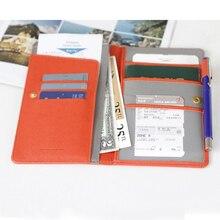 Путешествия Обложка для паспорта Бизнес держатель кредитной карты на паспорт, Обложка для документов Организатор Длинный кошелек паспорт мешок пассажирских билет
