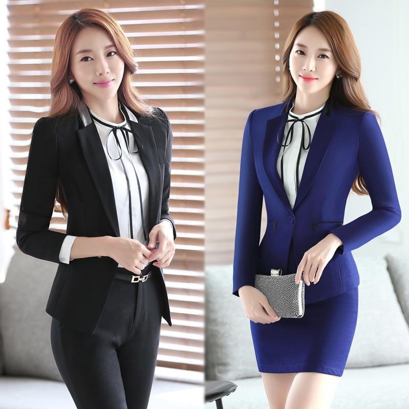 2 unidades set trajes de las mujeres dise os de uniformes Diseno de uniformes para oficina 2017