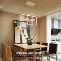 Светодиодные подвесные лампы Креативный акриловый индивидуальный геометрический светильник для спальни  гостиной  внутреннего освещения ...