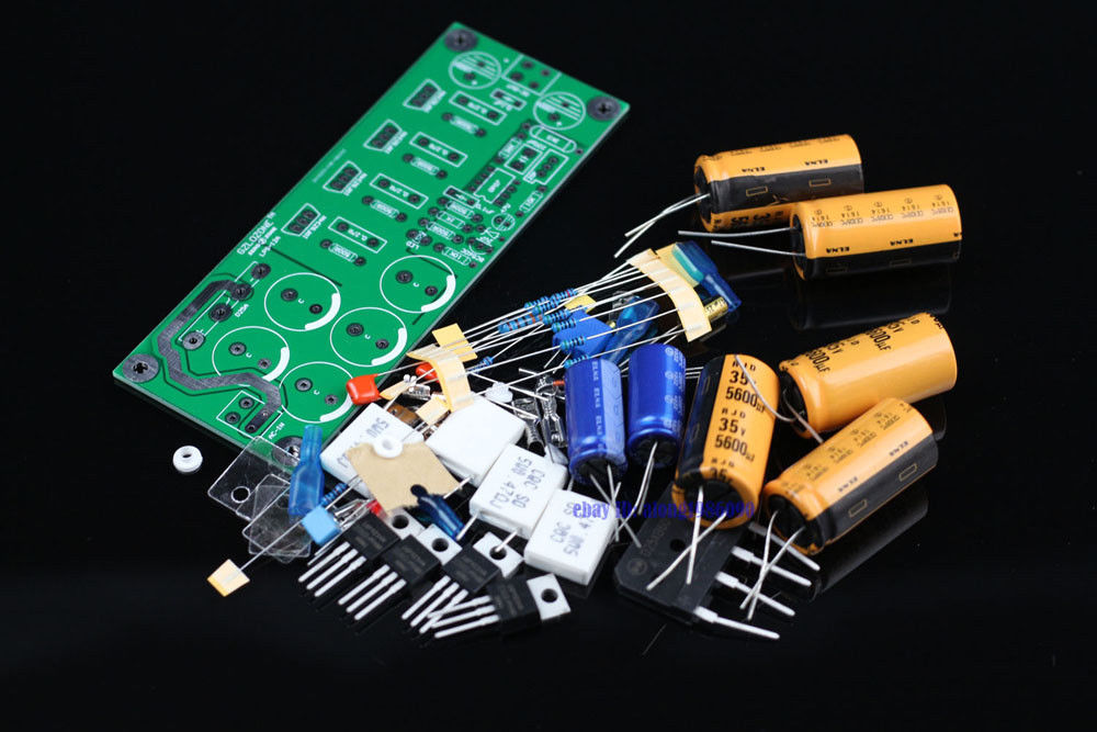 DIY kit Ultra low noise Linear power supply kit DC5 DC24V adjustable L6 25