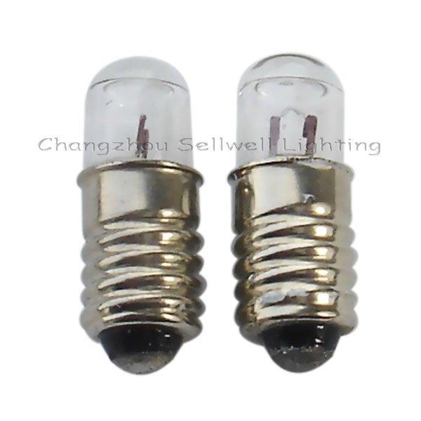 Miniature Lamp Bulbs Lighting E5 2.5v 0.3a 10pcs A105