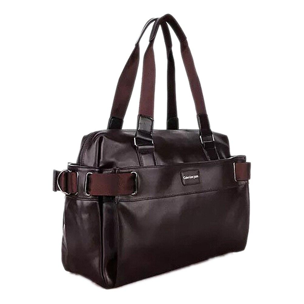 2017 Men Casual Briefcase Business Shoulder Leather Messenger Bags Computer Laptop Handbag Mens Travel Bags