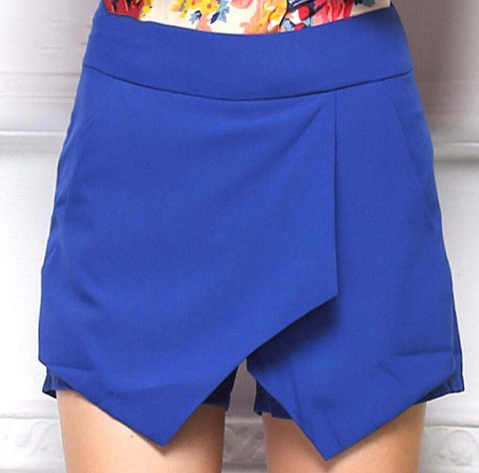 VISNXGI New Fashion Black White Blue Shorts Asymmetrical Geometric Shape Shorts Slim Casual Harem Straight Shorts Harem Short