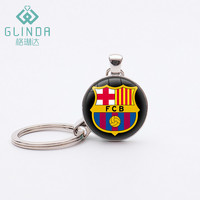 GLINDA Hot Football Team FC Barcelona Keychain Lucky Amulet Charms Pendants Keychains Personalized Fans Birthday Gift