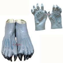 Перчатки в виде рук привидения террор зомби ботиночки Хэллоуин Дьявол Косплей Карнавал маскарадная латексная вечерние маски страшный ужас Ларп костюм